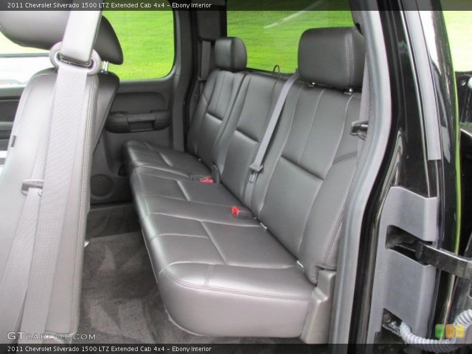 Ebony Interior Rear Seat for the 2011 Chevrolet Silverado 1500 LTZ Extended Cab 4x4 #84173142