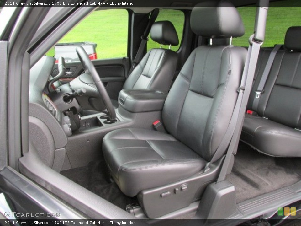 Ebony Interior Front Seat for the 2011 Chevrolet Silverado 1500 LTZ Extended Cab 4x4 #84173160