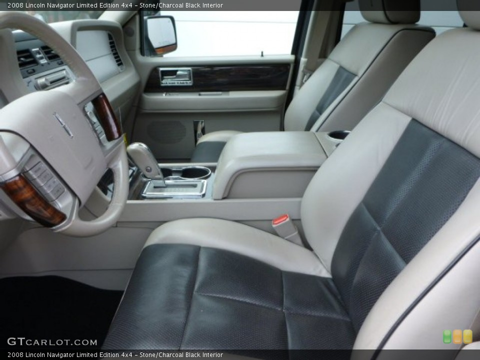 Stone/Charcoal Black 2008 Lincoln Navigator Interiors