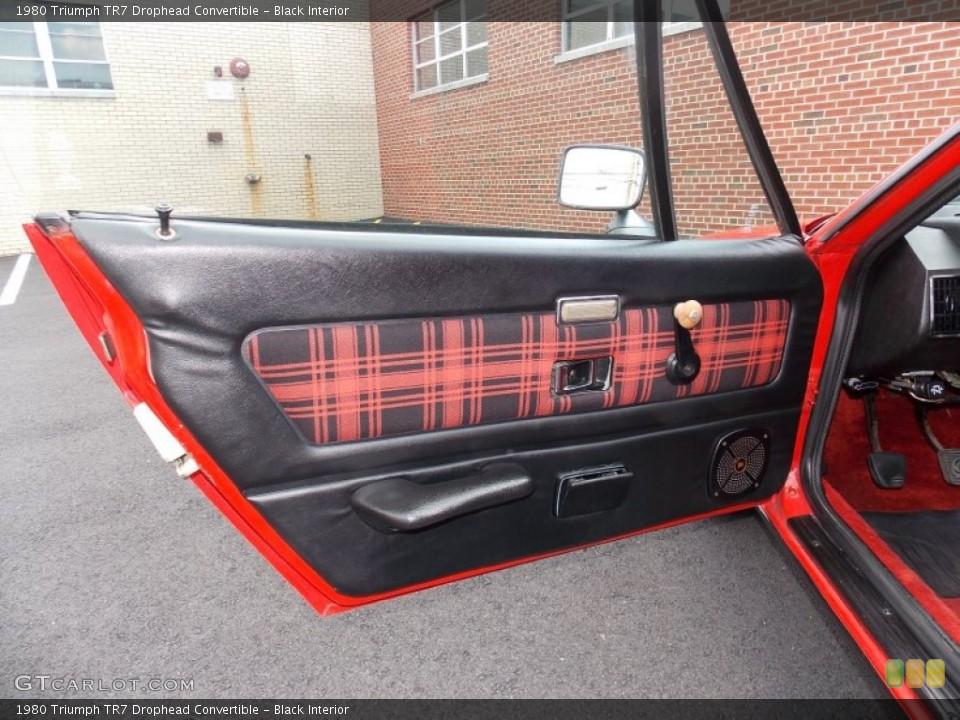 Black Interior Door Panel for the 1980 Triumph TR7 Drophead