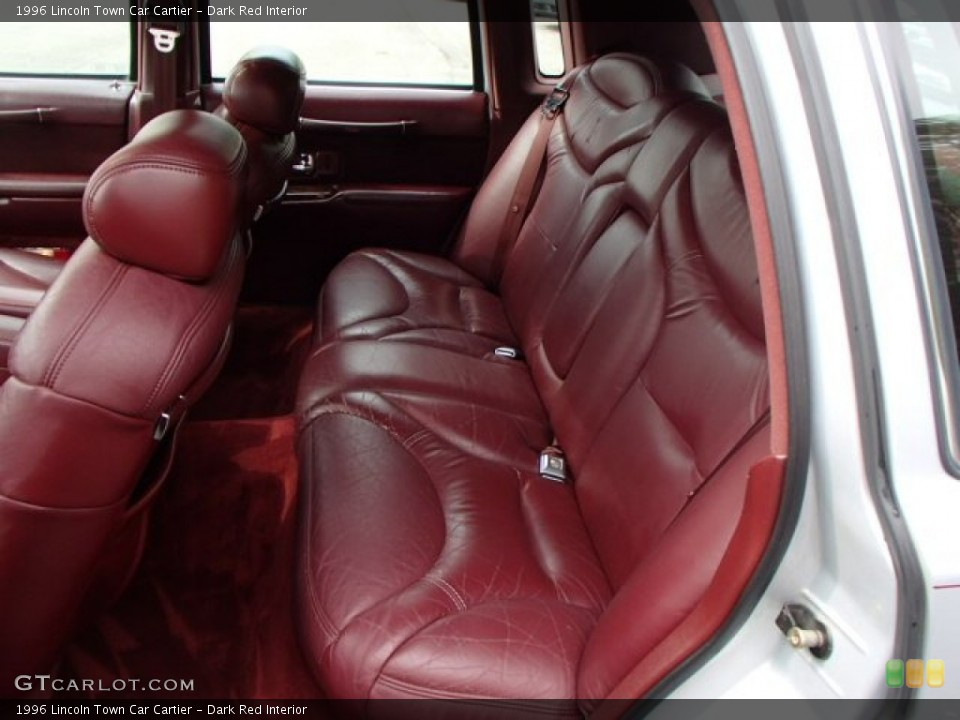 Dark Red Interior Rear Seat for the 1996 Lincoln Town Car Cartier #84389634