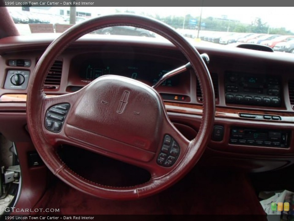 Dark Red Interior Steering Wheel for the 1996 Lincoln Town Car Cartier #84389706