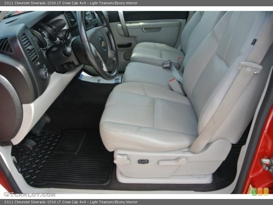 Light Titanium/Ebony Interior Front Seat for the 2011 Chevrolet Silverado 1500 LT Crew Cab 4x4 #84476525
