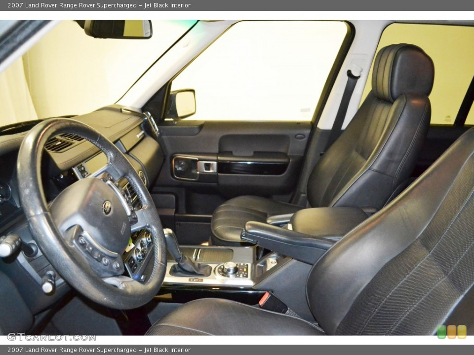 Jet Black Interior Front Seat for the 2007 Land Rover Range Rover Supercharged #84505236