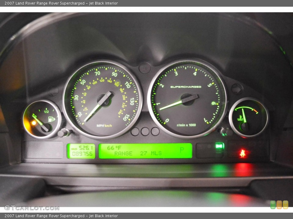 Jet Black Interior Gauges for the 2007 Land Rover Range Rover Supercharged #84505750