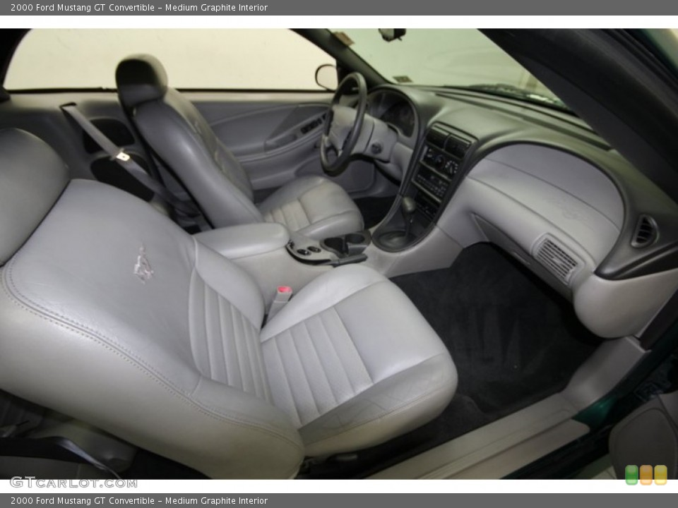 Medium Graphite Interior Front Seat for the 2000 Ford Mustang GT Convertible #84662640