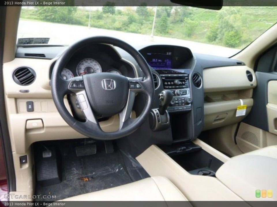 Beige 2013 Honda Pilot Interiors
