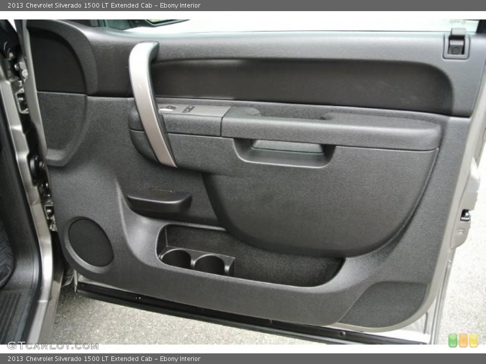 Ebony Interior Door Panel for the 2013 Chevrolet Silverado 1500 LT Extended Cab #84782252