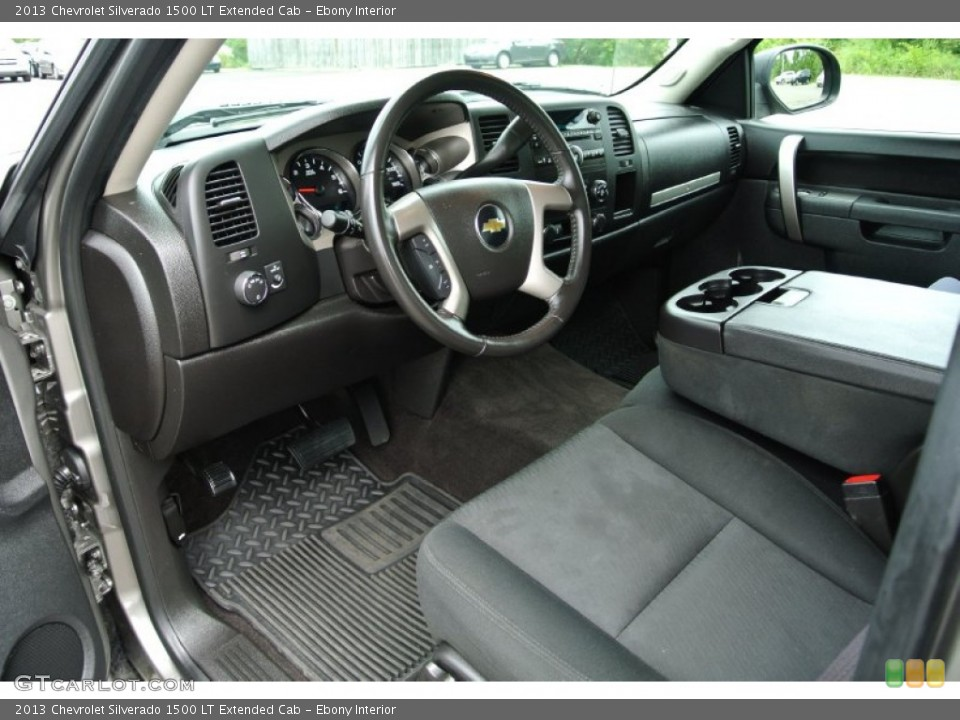 Ebony Interior Prime Interior for the 2013 Chevrolet Silverado 1500 LT Extended Cab #84782318