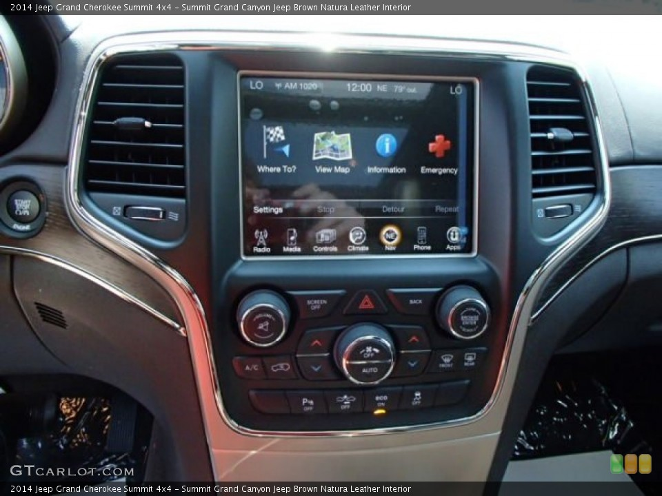 Summit Grand Canyon Jeep Brown Natura Leather Interior Controls for the 2014 Jeep Grand Cherokee Summit 4x4 #84836331