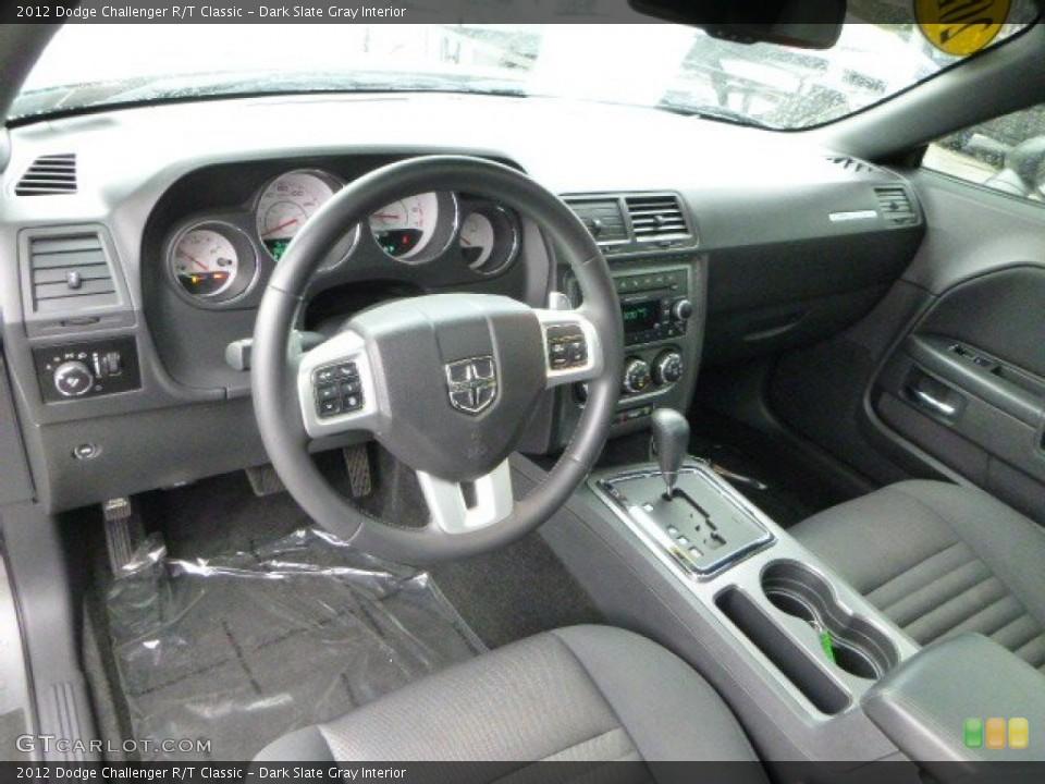 Dark Slate Gray 2012 Dodge Challenger Interiors