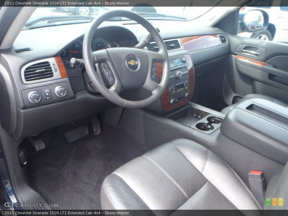 Ebony Interior Prime Interior for the 2011 Chevrolet Silverado 1500 LTZ Extended Cab 4x4 #85026067