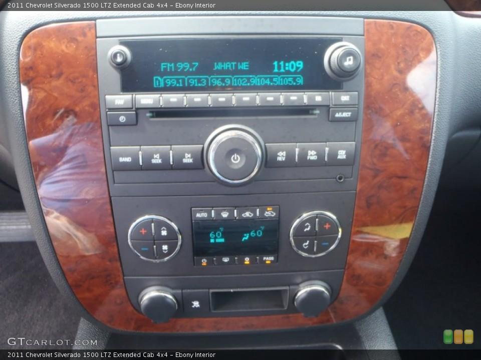 Ebony Interior Controls for the 2011 Chevrolet Silverado 1500 LTZ Extended Cab 4x4 #85026254