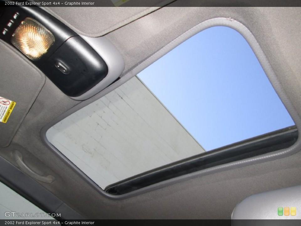 Graphite Interior Sunroof for the 2002 Ford Explorer Sport 4x4 #85529489