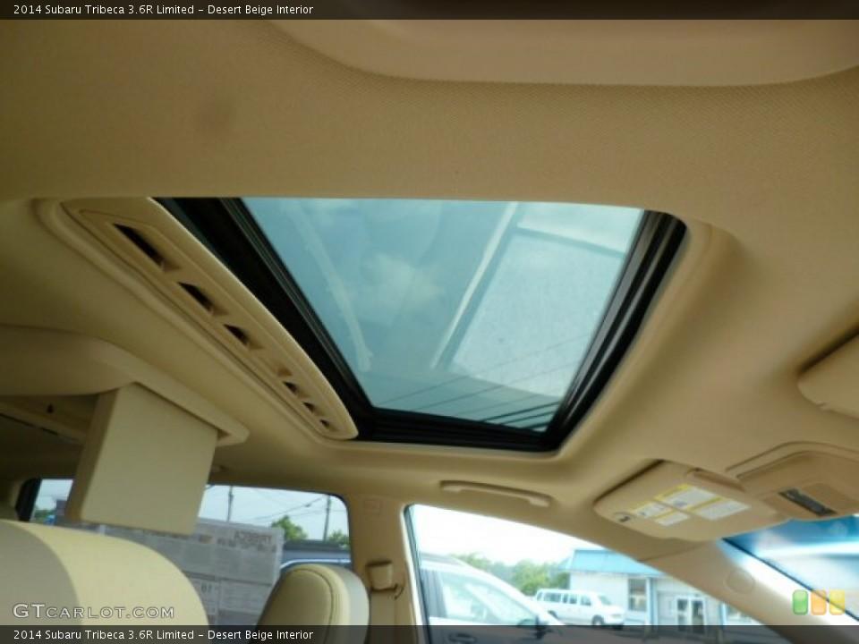 Desert Beige Interior Sunroof for the 2014 Subaru Tribeca 3.6R Limited #85612189