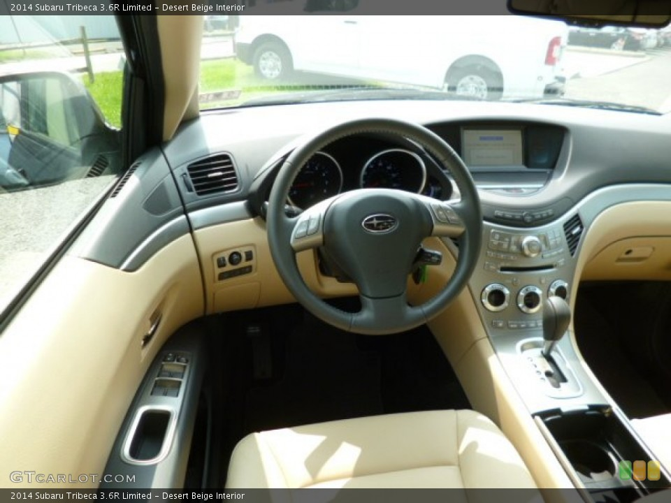 Desert Beige Interior Dashboard for the 2014 Subaru Tribeca 3.6R Limited #85612288