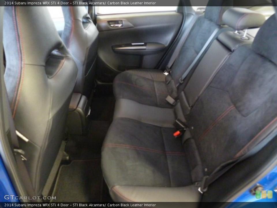 Sti Black Alcantara Carbon Black Leather Interior Rear Seat