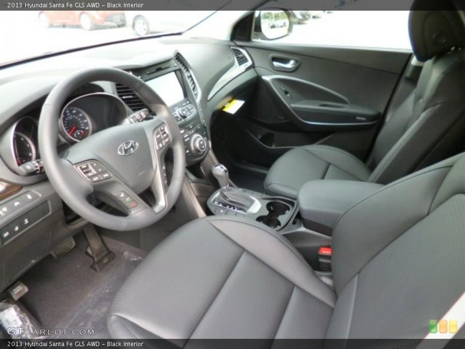 Black 2013 Hyundai Santa Fe Interiors