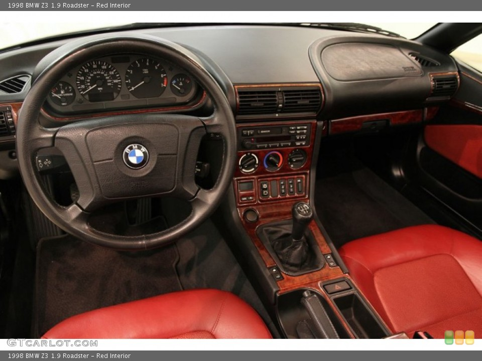 Red 1998 BMW Z3 Interiors