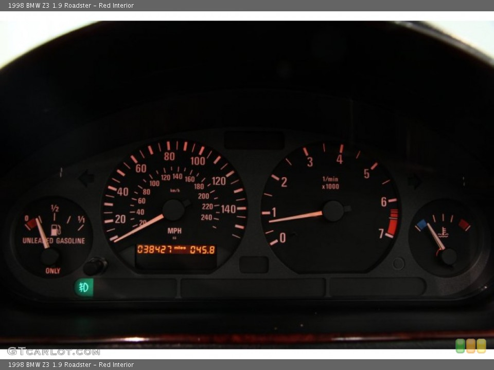 Red Interior Gauges for the 1998 BMW Z3 1.9 Roadster #85897219