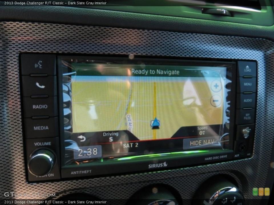 Dark Slate Gray Interior Navigation for the 2013 Dodge Challenger R/T Classic #85925703