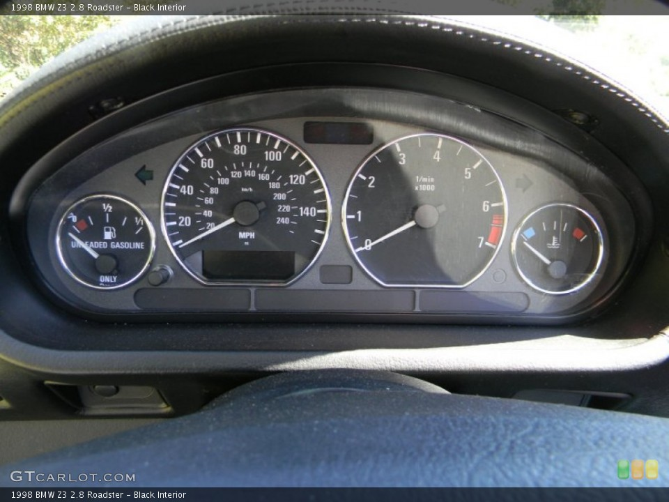 Black Interior Gauges for the 1998 BMW Z3 2.8 Roadster #85960755
