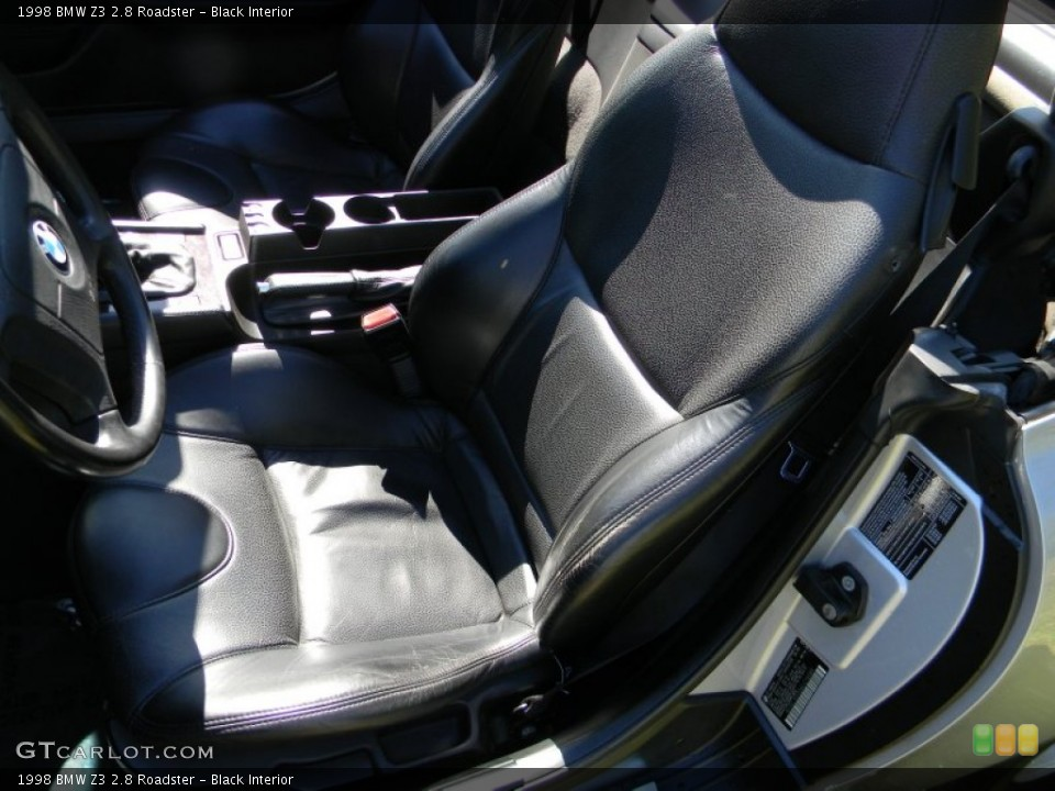Black Interior Front Seat for the 1998 BMW Z3 2.8 Roadster #85960764