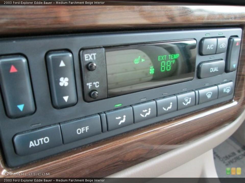 Medium Parchment Beige Interior Controls for the 2003 Ford Explorer Eddie Bauer #85964391