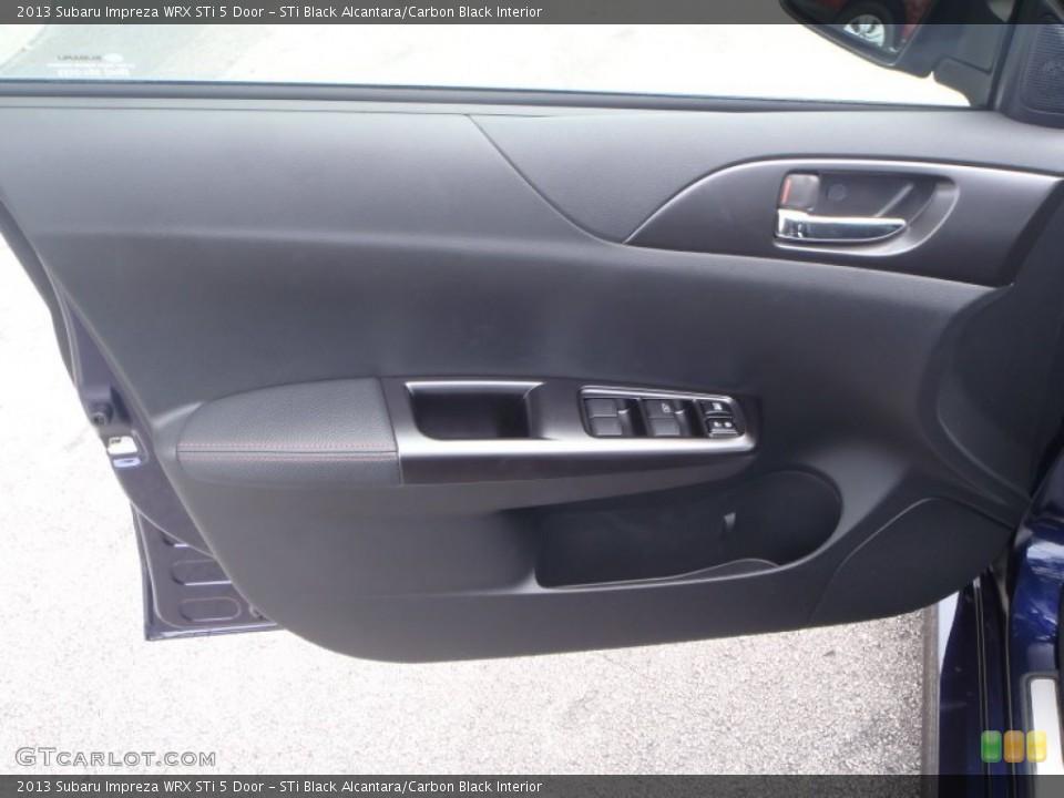 STi Black Alcantara/Carbon Black Interior Door Panel for the 2013 Subaru Impreza WRX STi 5 Door #86118024
