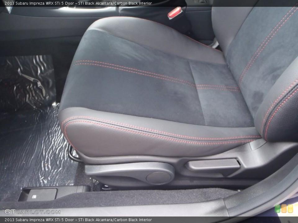 STi Black Alcantara/Carbon Black Interior Front Seat for the 2013 Subaru Impreza WRX STi 5 Door #86118106