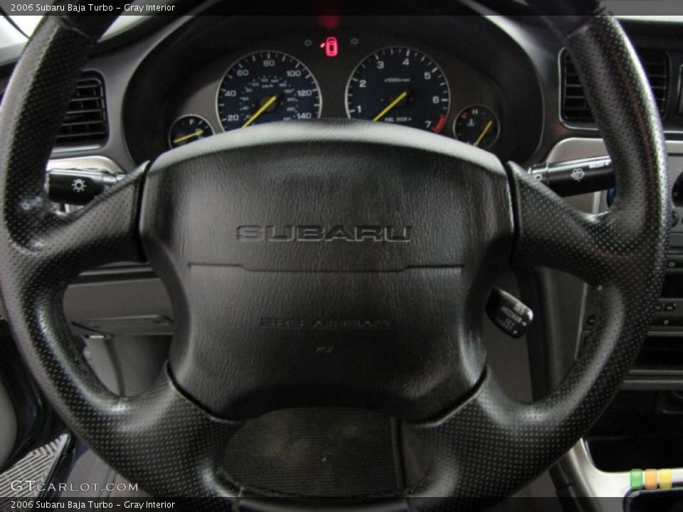 Gray Interior Steering Wheel for the 2006 Subaru Baja Turbo #86150334
