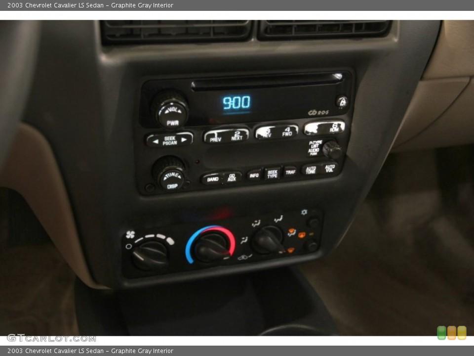 Graphite Gray Interior Controls for the 2003 Chevrolet Cavalier LS Sedan #86150988