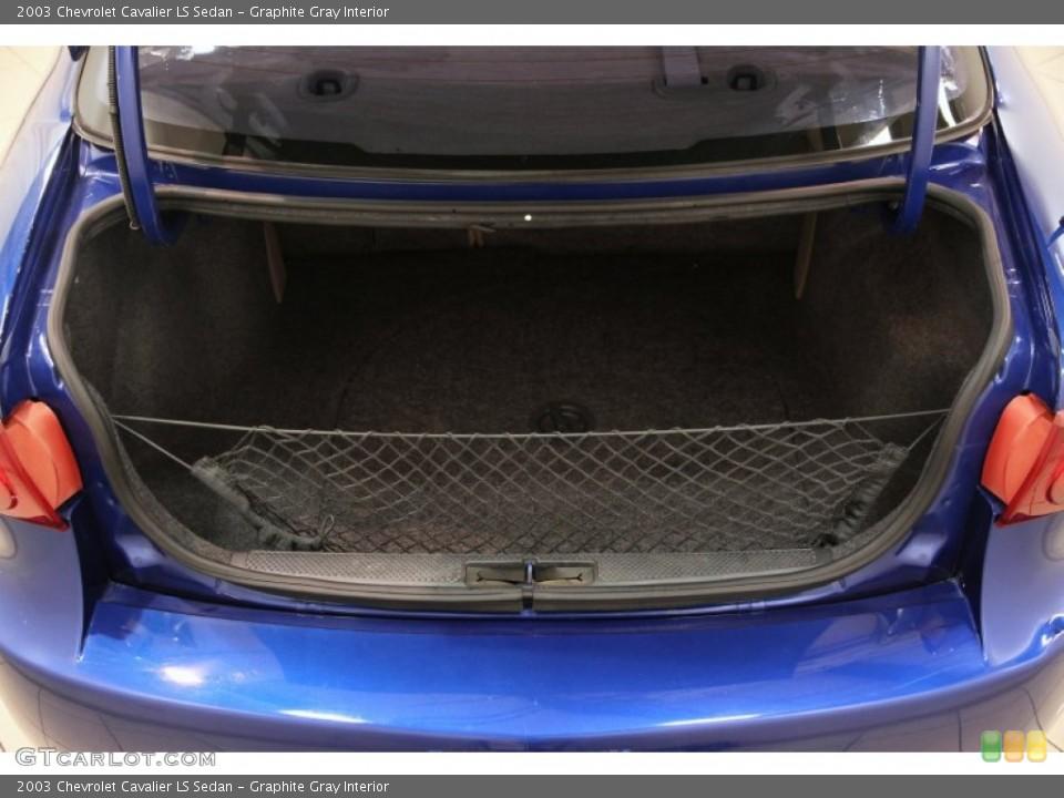 Graphite Gray Interior Trunk for the 2003 Chevrolet Cavalier LS Sedan #86151060