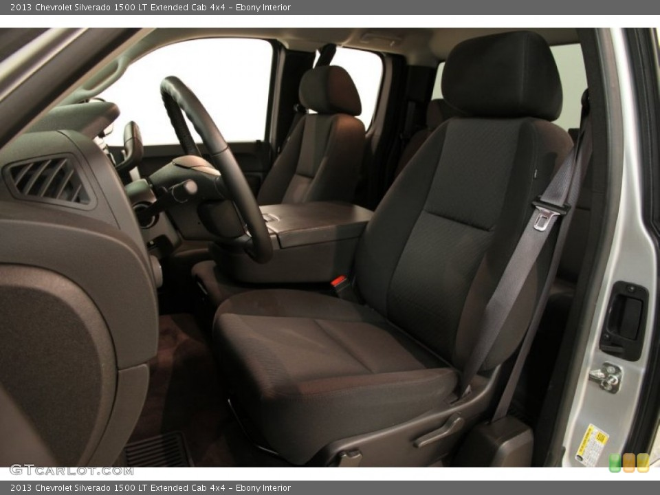 Ebony Interior Front Seat for the 2013 Chevrolet Silverado 1500 LT Extended Cab 4x4 #86189963