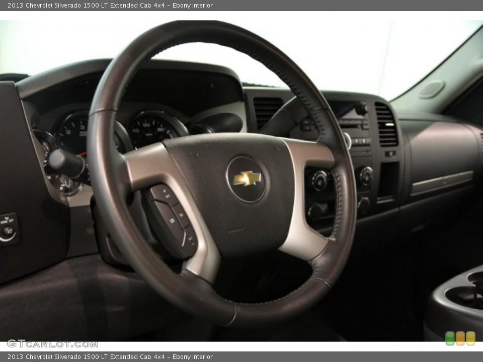 Ebony Interior Steering Wheel for the 2013 Chevrolet Silverado 1500 LT Extended Cab 4x4 #86189981