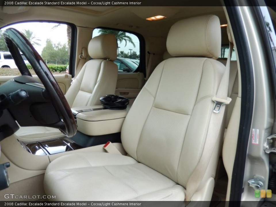 Cocoa/Light Cashmere Interior Front Seat for the 2008 Cadillac Escalade  #86256971