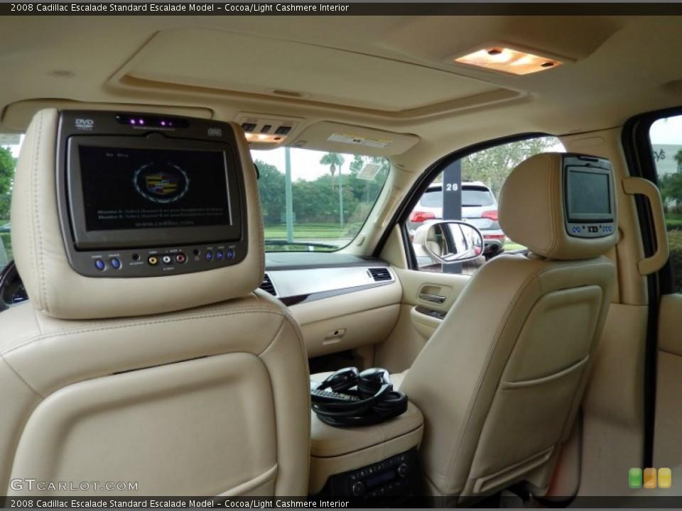 Cocoa/Light Cashmere Interior Entertainment System for the 2008 Cadillac Escalade  #86257025