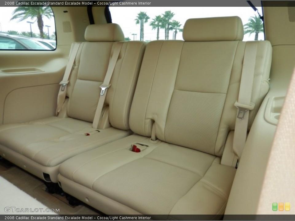 Cocoa/Light Cashmere Interior Rear Seat for the 2008 Cadillac Escalade  #86257049