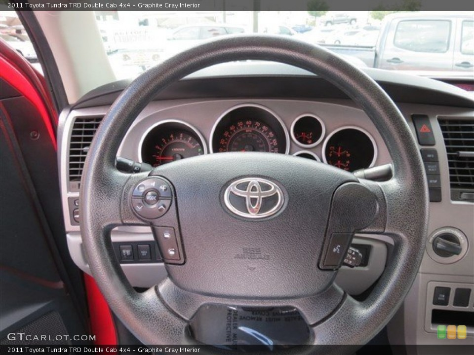Graphite Gray Interior Steering Wheel for the 2011 Toyota Tundra TRD Double Cab 4x4 #86361408
