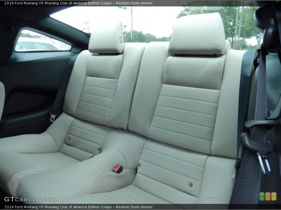 medium stone interior rear seat for the 2014 ford mustang v6 mustang club of america edition