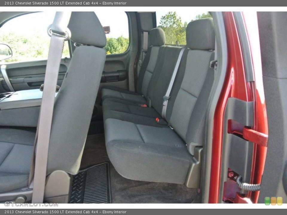 Ebony Interior Rear Seat for the 2013 Chevrolet Silverado 1500 LT Extended Cab 4x4 #86606211