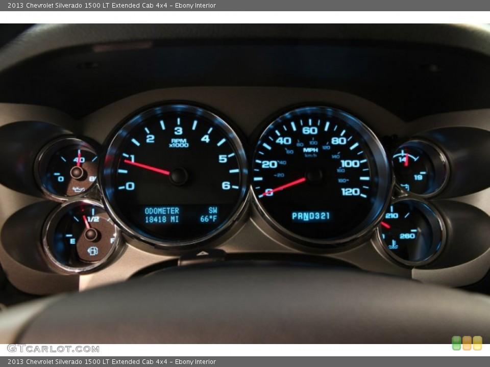 Ebony Interior Gauges for the 2013 Chevrolet Silverado 1500 LT Extended Cab 4x4 #86610021