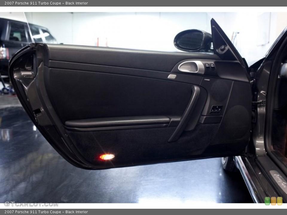 Black Interior Door Panel for the 2007 Porsche 911 Turbo Coupe #86760954