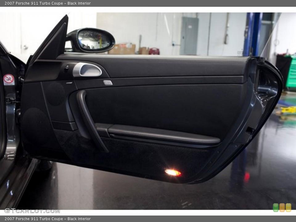 Black Interior Door Panel for the 2007 Porsche 911 Turbo Coupe #86760975