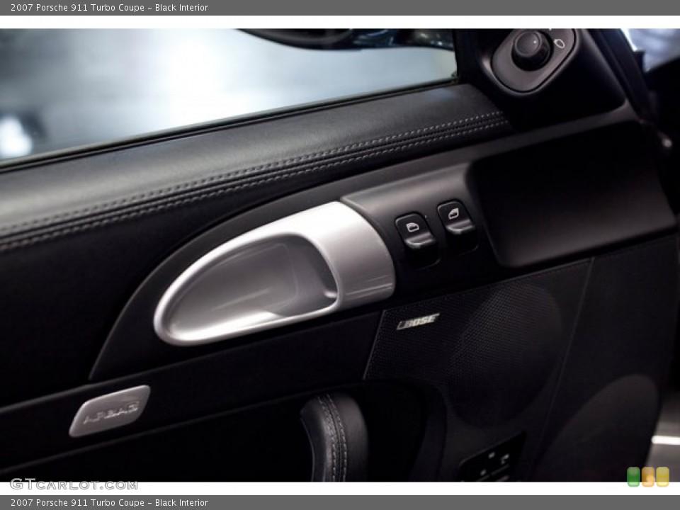 Black Interior Controls for the 2007 Porsche 911 Turbo Coupe #86760996