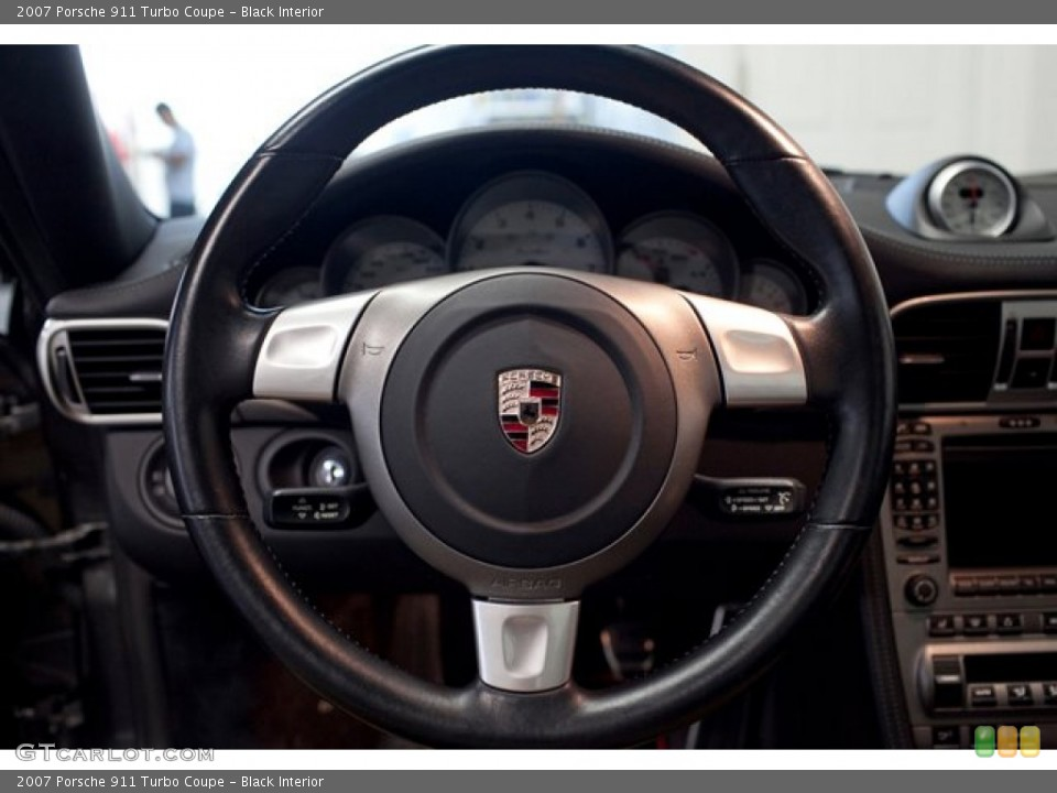 Black Interior Steering Wheel for the 2007 Porsche 911 Turbo Coupe #86761167