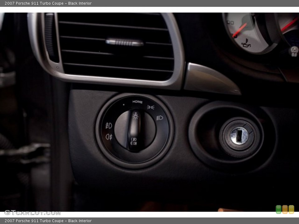 Black Interior Controls for the 2007 Porsche 911 Turbo Coupe #86761200