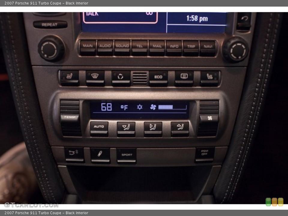 Black Interior Controls for the 2007 Porsche 911 Turbo Coupe #86761383