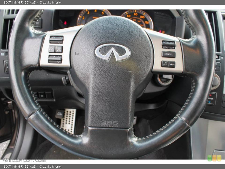 Graphite Interior Steering Wheel for the 2007 Infiniti FX 35 AWD #86894443