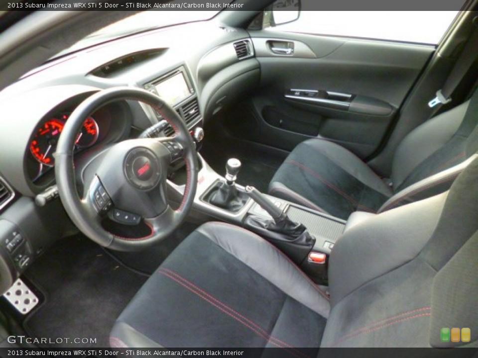STi Black Alcantara/Carbon Black 2013 Subaru Impreza Interiors